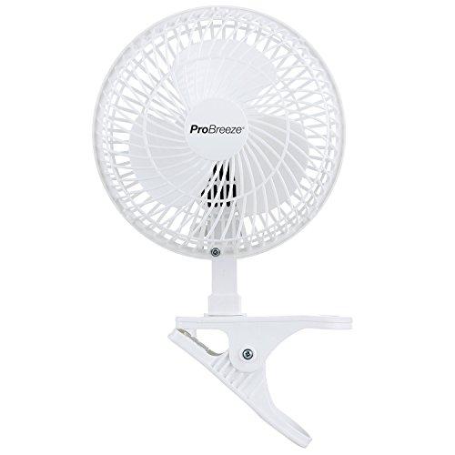 Pro Breeze Mini-Ventilator zum Anklipsen, 15 cm Durchmesser, für Zuhause, Büro und Schreibtisch, 2 Geschwindigkeitsstufen