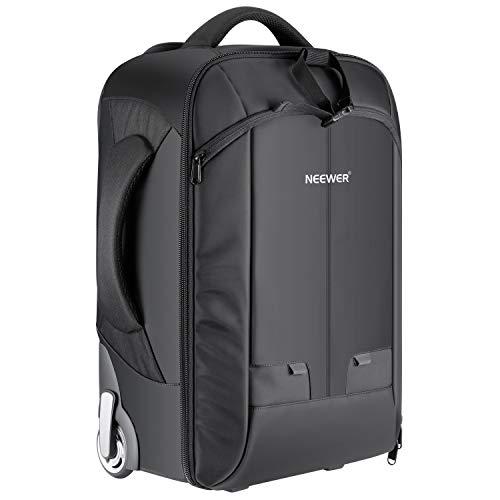Neewer Kamera-Rucksack für SLR/DSLR-Kameras und Zubehör (NW3300), umrüstbar, mit Rollen–Schwarz