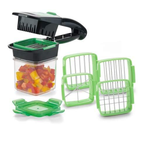 Genius Nicer Dicer Quick Set | Gemüseschneider | Allesschneider | Zwiebelschneider | Bekannt aus TV (7tlg, grün)