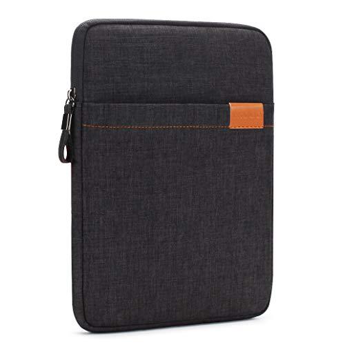 NIDOO 8 Zoll Tablet Hülle Wasserdicht Sleeve Case Etui Tasche Schutztasche für 7.9' iPad Mini 5/8' Samsung Galaxy Tab S2 / 8' Lenovo Tab 4 Plus Lenovo Tab3 / 8.4' Huawei MediaPad M5 Tablet, Schwarz