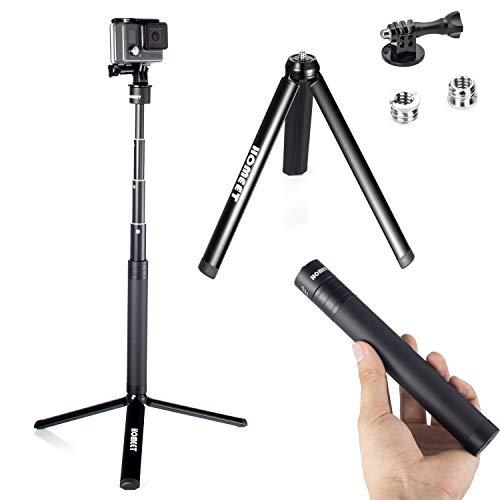 Kamera Selfie Stick Stativ für GoPro, Homeet 2-in-1 Teleskopstange und Mini-Stativ All Aluminium für DJI OSMO Action, SJCAM, Akaso, Garmin Virb, YI 4K, Victure, Qumox, Crosstour, Apeman, 91CM