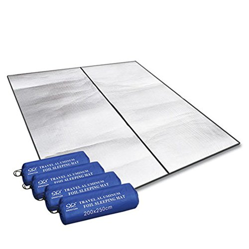 200 x 250 cm (78,8 'x 98,43') Alu Isomatte Isoliermatte Zeltmatte Bodenmatte Matte Thermomatte