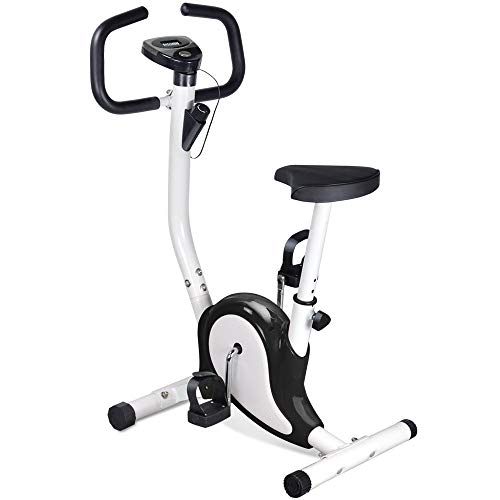 KS-Sports Fahrradtrainer Hometrainer Fahrrad Trimmrad Bike Fitnessbike Fahrradtraine mit Computer LCD Ergometer