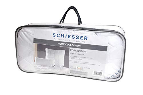 Schiesser ganzjahres Kopfkissen / 40 cm x 80 cm / Allergiker geeignet / verschiedene Größen erhältlich