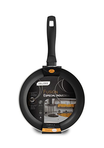 IBILI Bratpfanne Fusion 16 cm, Edelstahl, schwarz