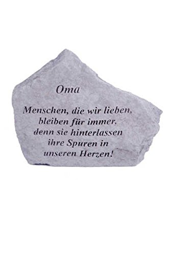 Gedenkstein 'Oma...' aus Steinguss 18 x 14 cm Grabschmuck