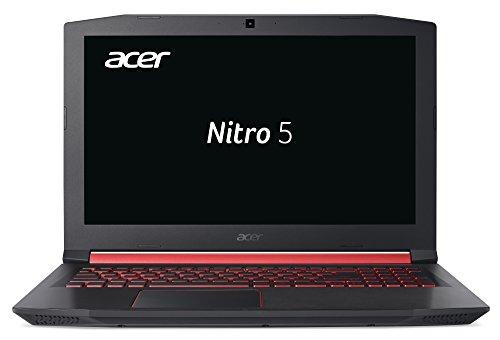 Acer Nitro 5 (AN515-52-59UC) 39,6 cm (15,6 Zoll Full-HD IPS matt) Gaming Notebook (Intel Core i5-8300H, 8GB RAM, 512GB PCIe SSD, NVIDIA GeForce GTX 1060, Win 10 Home) schwarz/rot
