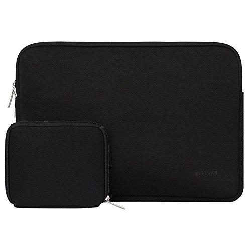 MOSISO Sleeve Hülle Tasche für 15-15,6 Zoll MacBook Pro, Notebook Computer Wasserresistente Lycra Laptophülle Schutzhülle Laptoptasche Notebooktasche mit Kleinen Fall, Schwarz