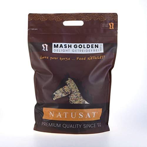 Natusat Mash Golden Delight 5000 g - Getreidefrei, Fertigfutter für Pferde - Verdauung