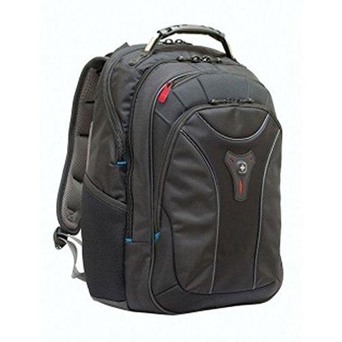 Wenger 600637 CARBON 17' MacBook Pro Rucksack, gepolsterte Laptopfach mit Fall Stabalising Plattform in schwarz {25 Liter}