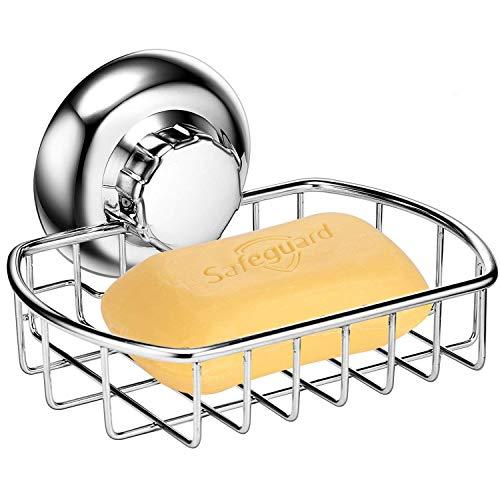 MaxHold Saugschraube Seifenkorb/Seifenhalter, Befestigen ohne Bohren – Edelstahl rostfrei – Küchen & Badezimmer Aufbewahrung
