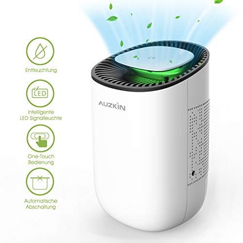 AUZKIN Mini Luftentfeuchter Elektrischer Entfeuchter gegen Feuchtigkeit und Schimmel,Tragbar Raumentfeuchter Dehumidifier für 5-15m²Raum Badezimmer WC Garderobe Schränke, 600ml
