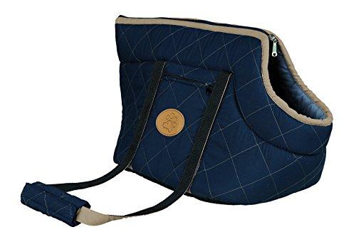 Trixie 36231 Tasche Viktoria, 26 x 29 x 50 cm, dunkelblau/hellblau