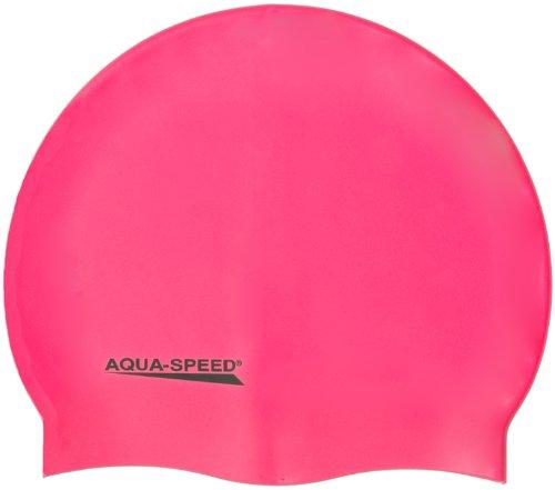 AQUA-SPEED - Bademütze / Schwimmkappe - Super-stretch Mega 100-03 (rosa)
