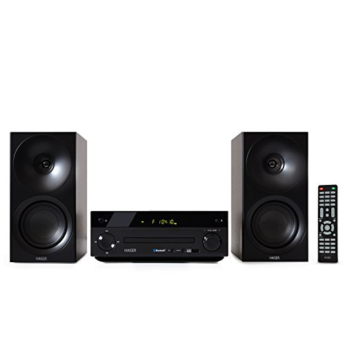 HAISER HSR 118   40 Watt RMS mit • CD Player • Bluetooth • USB • Boxen • FM Radio   Stereoanlage Kompaktanlage Musikanlage HiFi Anlagen Mini Anlage Microanlage Mini Stereoanlage Soundanlage