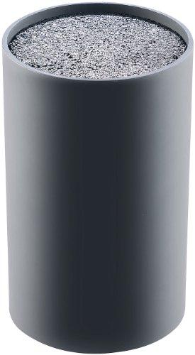 TokioKitchenWare Universal Messerblock: Universeller Messerblock mit Borsten-Einsatz, schwarz (Küchenmesser-Block)