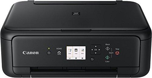 Canon PIXMA TS5150 Farbtintenstrahl-Multifunktionsgerät (Drucken, Scannen, Kopieren, 2 FINE Druckköpfe mit Tinte (Schwarz und Farbe), WLAN, Print App, automatischer Duplexdruck, 2 Papierzuführungen) schwarz