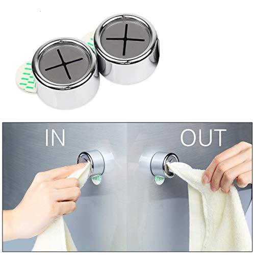 Eqosun praktischer Handtuchhalter |Sonderedition| wiederverwendbar- 3M Klebefläche- starker Halt ohne Schlaufe (2er Pack)