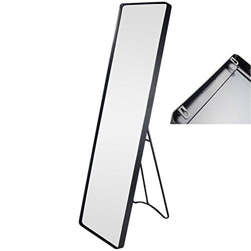riya Standspiegel Garderobenspiegel Ankleidespiegel Ganzkörperspiegel Spiegel Schwarz