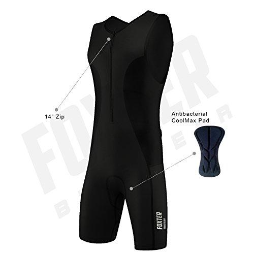 Triathlon-Anzug für Herren, Kompressionsanzug, Schwarz , M