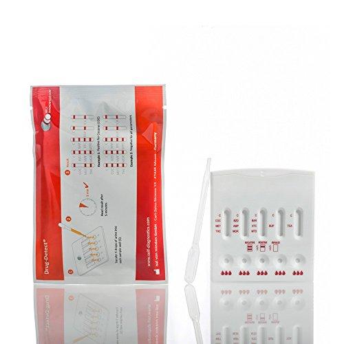 Multi-Drogentest Multi 11 T (testet auf 11 Drogen) Schnelltest - Drug-Detect - 1 Testkarte