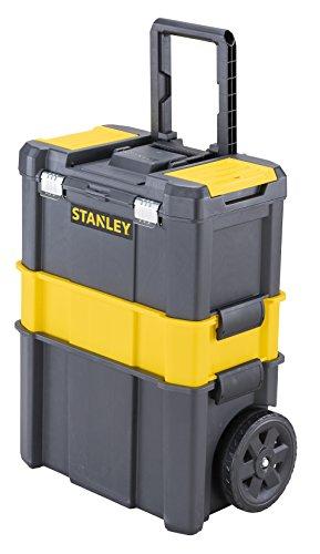 Stanley STST1-80151 Essential Rollende Werkstatt, Belastbarkeit bis zu 20 kg, Metallverschlüsse, Organizer für Kleinteile im Deckel