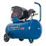 Scheppach Kompressor HC60 (1500 W, 50 L, 10 bar, Ansaugleistung 165 L/min, ölgeschmiert, Fahrvorrichtung, 96 dB) inkl. Motorenöl
