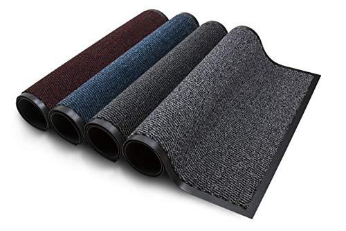 Carpet Diem Rio Schmutzfangmatte - 5 Größen - 4 Farben Fußmatte mit äußerst starker Schmutz und Feuchtigkeitsaufnahme - Sauberlaufmatte in dunkel grau - anthrazit - schwarz 40 x 60 cm