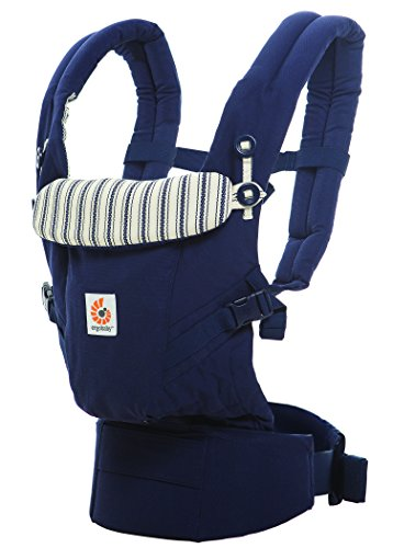 ERGObaby Babytrage für Neugeborene bis Kleinkind Admiral Blue, Adapt 3-Positionen Ergonomische Baby-Tragetasche und Kindertrage, Tragesystem