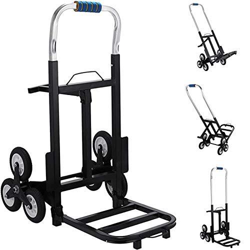 Mophorn Treppensteiger bis 190KG Tragbare Transporthilfe mit Metallrahmen Schwere Treppensteiger Wagen Folding Cart (420 lbs Max. Last)