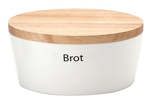 440s.de Brottopf aus Keramik mit Holzdeckel, ca. 30 x 23 x 13,5 cm | CON-03930000