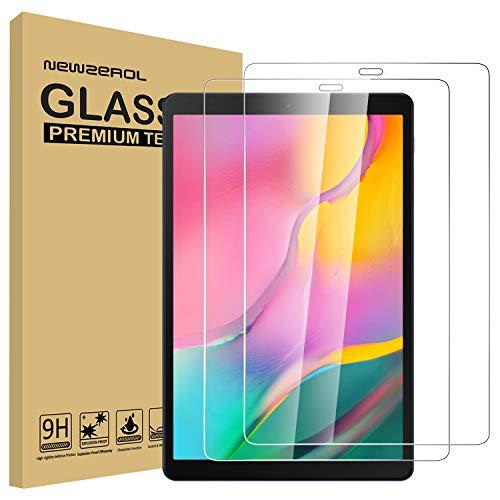 NEWZEROL [Aktualisierte Version] [2 Stück] Ersatz für Samsung Galaxy Tab A 10.1 2019 (T510 / T515) Panzerglas Schutzfolie, [Anti-Bubble] [Anti-Scratch] Displayschutz - [Lebenslange Ersatzgarantie]