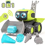GILOBABY RC Roboter Spielzeug , Elektrisches Ferngesteuertes Autos Spielzeug , Fahrzeuge des Lernens und der Ausbildungs Technik, Montage Ferngesteuertes Roboter mit Lichtern / Musik , Kinder RC Auto