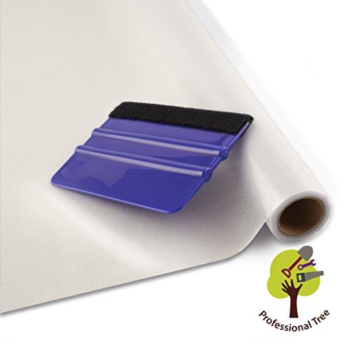 ProfessionalTree Fenster-Sichtschutz-Folie Milchglas-Folie 45x200 cm - selbstklebend matt - Privatsphäre-Schutz im ganzen Haus - mit Rakel (1 Rolle)