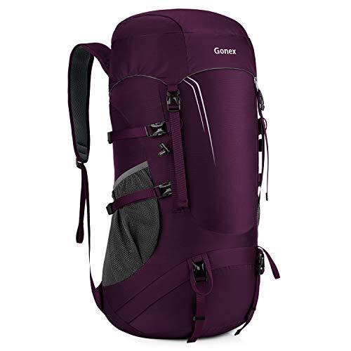 45L Trekkingrucksack faltbar, 600g Leichtgewicht 4 Farbauswahl verschleißfest wasserabweisend für Outdoor Wandern Reisen - GX068D