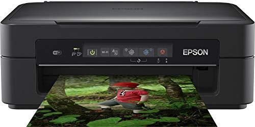 Epson Expression Home XP-255 3-in-1 Tintenstrahl-Multifunktionsgerät Drucker (Drucken, scannen, kopieren, WiFi, Einzelpatronen, 4 Farben, DIN A4) schwarz
