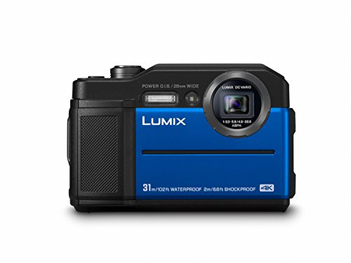 Panasonic LUMIX DC-FT7EG-A Outdoor Kamera in blau (20,6 Megapixel, 4K Foto, 4K Video, wasserdicht bis 31 m, USB, stoßfest bis 2 m)