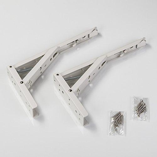 1 Paar SO-TECH Klappkonsole 242,0 x 20,5 x 136 mm Stahl weiß beschichtet Tragkraft 55 kg
