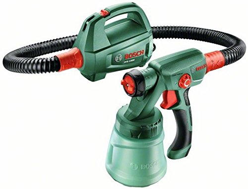 Bosch Farbsprühsystem PFS 1000 mit Farbbehälter 800 ml, Düse für Lacke und Lasuren, Schultergurt, Karton