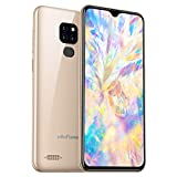 Ulefone Note 7P 4G Smartphone ohne Vertrag, Handy 3GB +32GB (128GB erweiterbar) 6.1' Waterdrop Full Screen, Triple Kamera 8MP+2MP+2MP, Android 9.0, Dual SIM, Global Version, OTG (Gold)