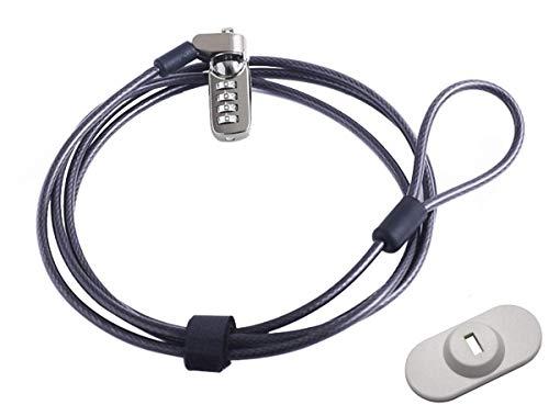 CaLeQi Laptopschloss Notebook Lock Computer Lock Kombination Kabel Lock mit 4 Digit Passwort Schutz Kombination Kabel Lock 2m Länge