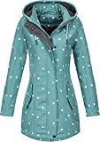 Top Fuel Fashion Damen Softshelljacke Kurzmantel Ivana Green/White dots XXL