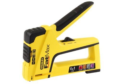 Stanley FatMax TR400 Handtacker und Nagler 4-in-1 (für Stifte/Nägel/Feindrahtklammern/Rundklammern) FMHT6-70411