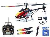 efaso Helikopter WLToys V913 - 2,4 GHz, 4-Kanal Single Blade Hubschrauber mit LCD Display an der Fernsteuerung, Alu-Chassis und hoher Windresistenz inkl. Batterien für Fernsteuerung