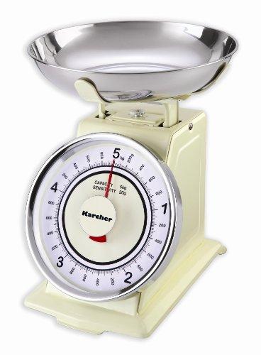 Karcher 130130 WAK 811 Mechanische Retro Küchenwaage, magnolia