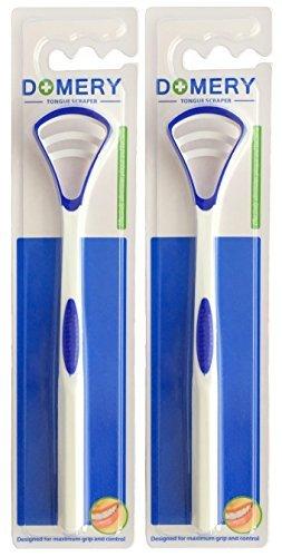 Zungenreiniger 2 Stück - Domery -Tongue Cleaner Zunge Mundhygiene Dental Mundpflege Zungenschaber Plaque Entferner Anti Mundgeruch - für den angenehmen Atem
