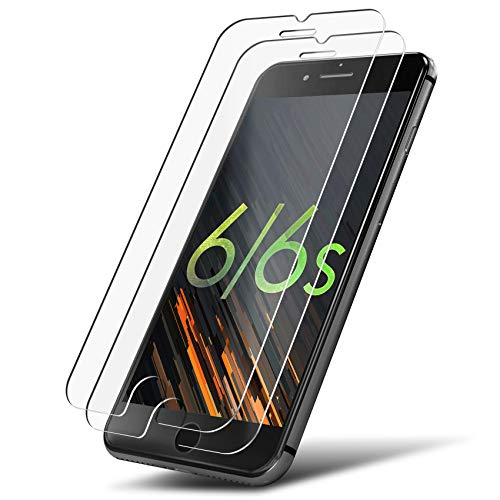 UTECTION 2X Panzerglas Folie für Apple iPhone 6 / 6s - Schutzfolie aus Glas gegen Displayschäden - Passgenaue Panzerglasfolie Anti Kratzer - Displayschutzfolie Schutzglas Clear Durchsichtig
