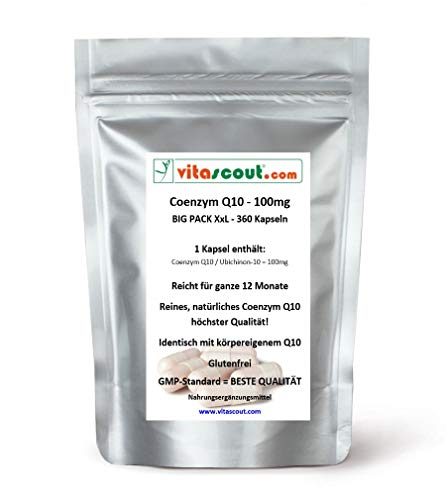 Coenzym Q10-100 mg - 360 Kapseln - für ein ganzes Jahr - BESTE QUALITÄT!