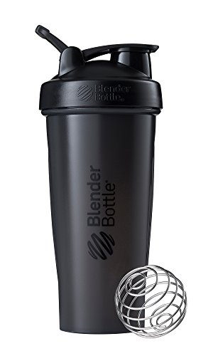 BlenderBottle Classic Loop Shaker | Eiweiß Shaker | Diät Shaker | Protein Shaker mit Blenderball 820ml  - Black