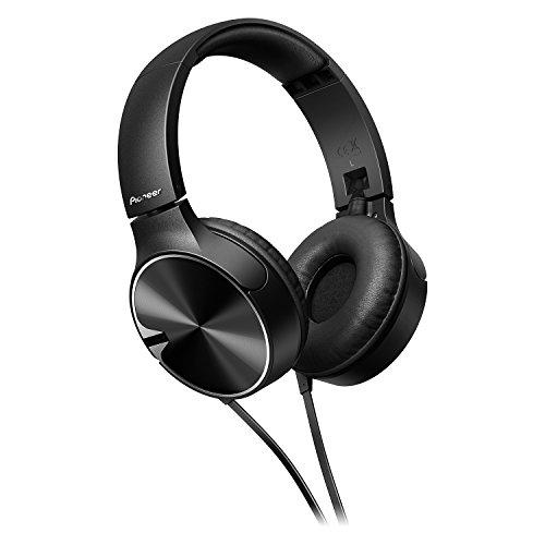 Pioneer SE-MJ722T-K bassstarker Stylischer on-Ear-Kopfhörer optimiert für Android/Apple Smartphone schwarz